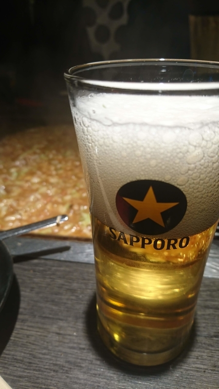 もんじゃとビール