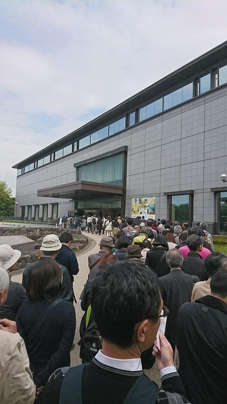 「名作誕生ーつながる日本美術」への行列