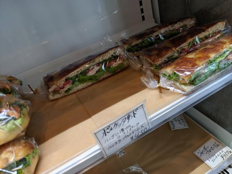 ブーランジェリージャンゴのサンドイッチ