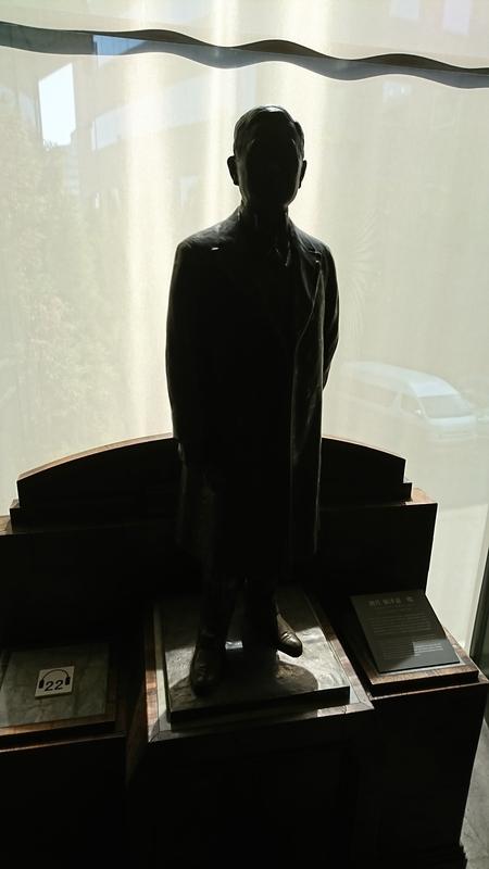 根津嘉一郎さんの銅像