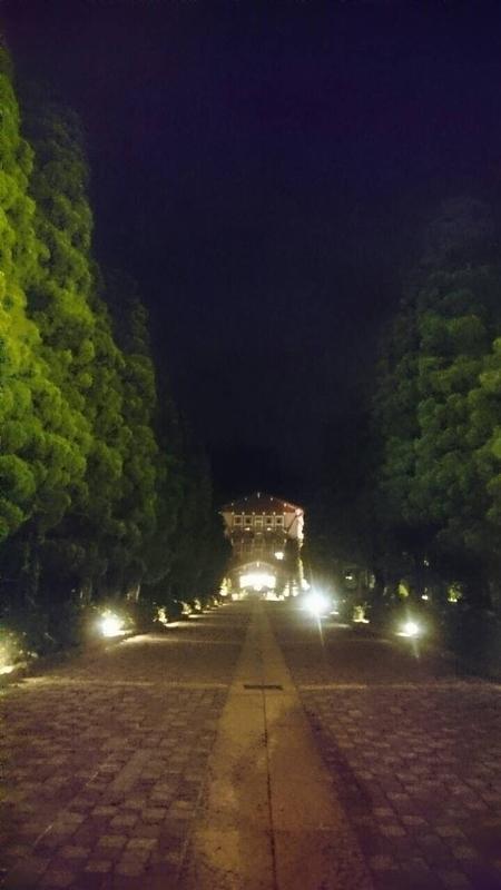 雲仙観光ホテル外観(夜)