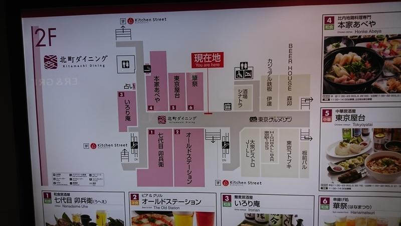 東京グルメゾン、北町ダイニング、地図