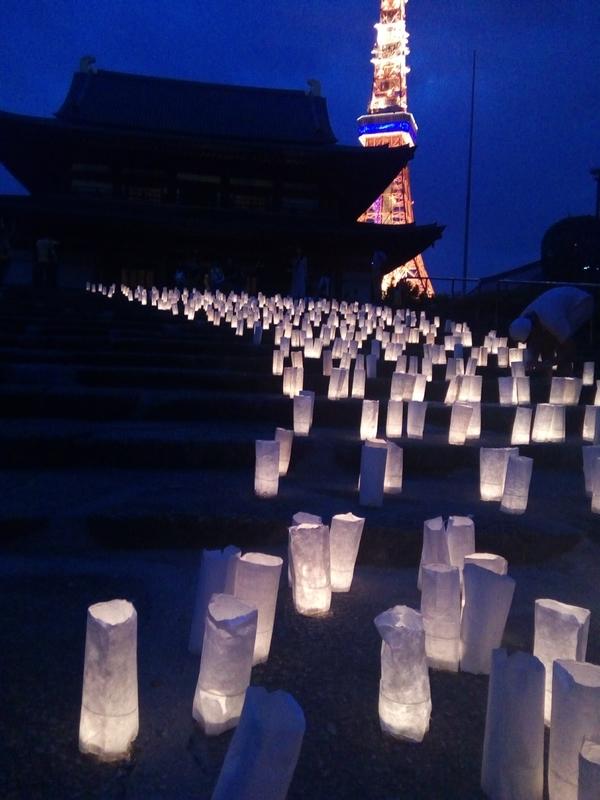 増上寺のキャンドルナイト