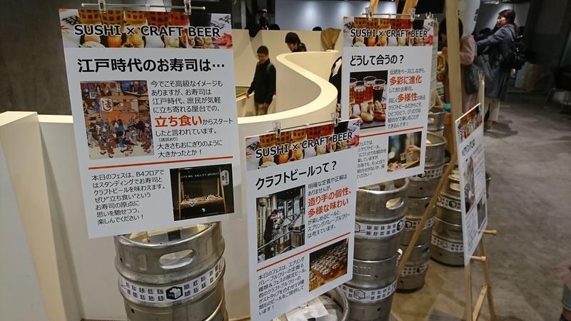 寿司とビールのいろいろ