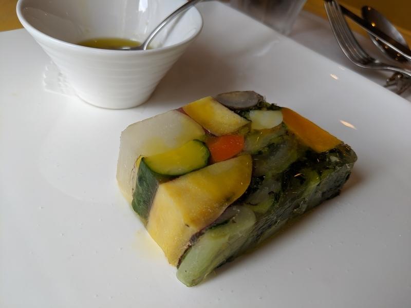 10種のリチャード焼き野菜テリーヌ、バーニャカウダソース添え