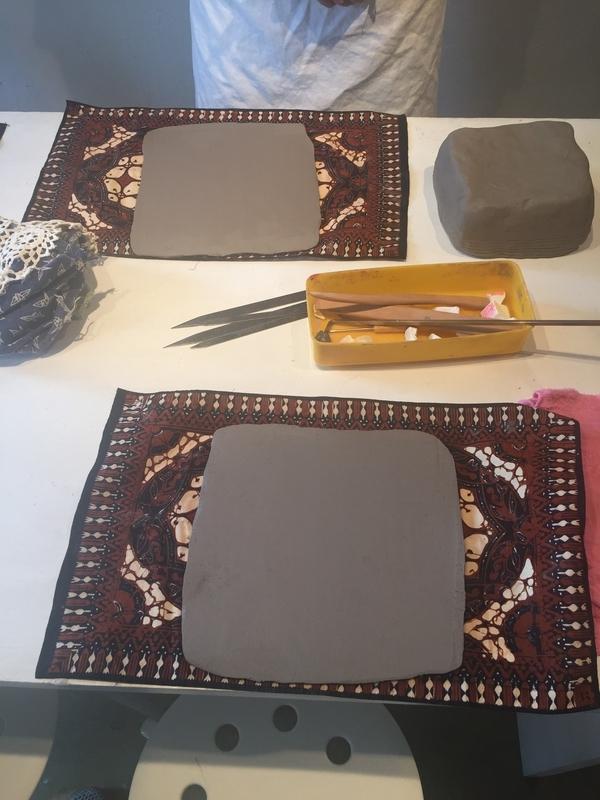 板状の粘土