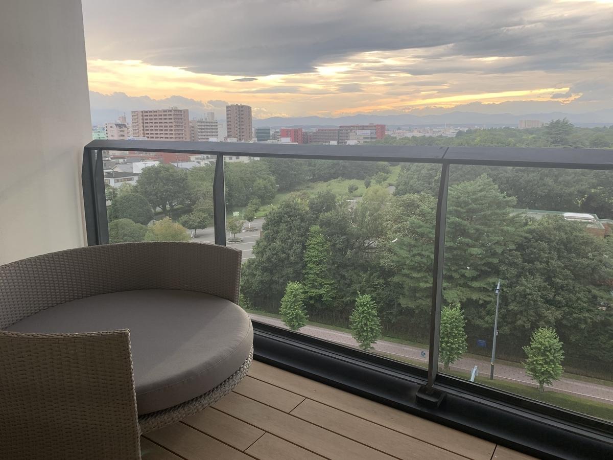 ソラノホテル、ベランダ、風景