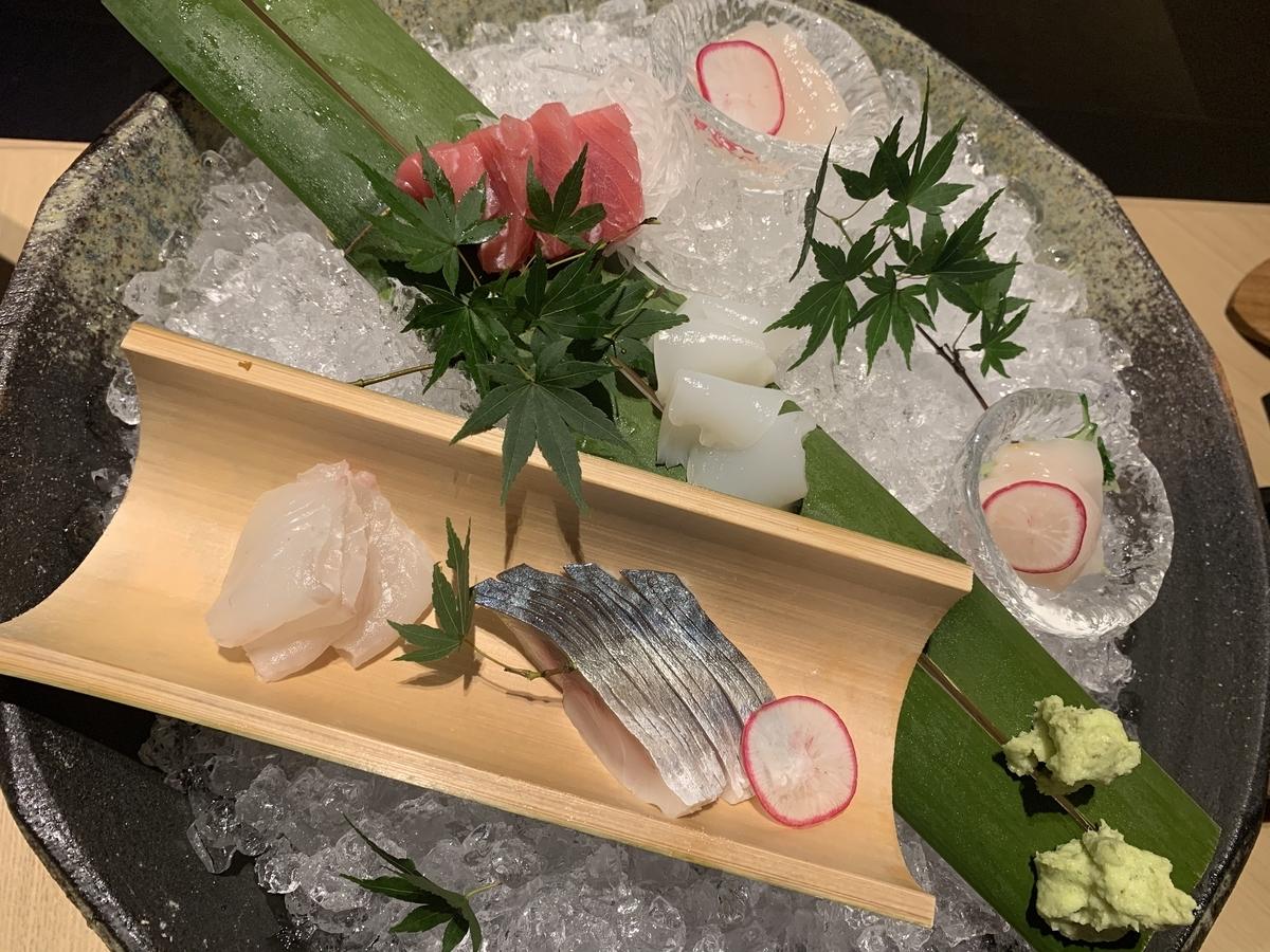 お造り盛り合わせ、お刺身、魚