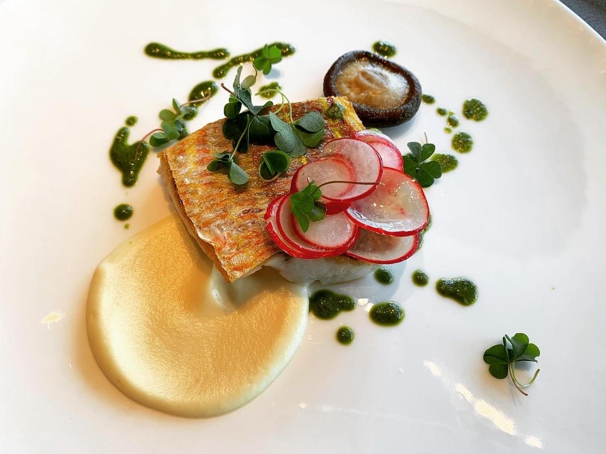 ピアーチェ、シャングリラ、ランチコース、ホテルランチ、本日のお魚