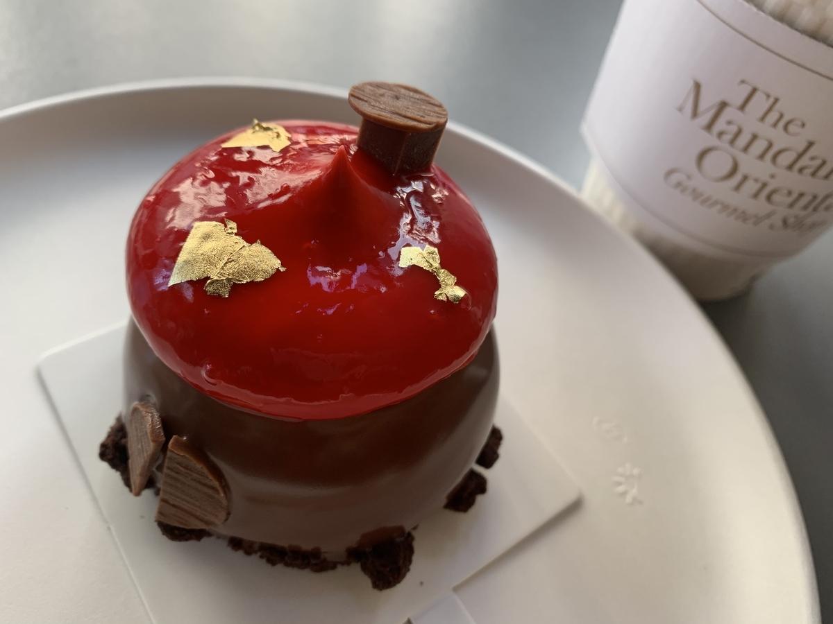 マンダリンオリエンタル東京、グルメショップ、チョコレートケーキ、ホテルケーキ、ホテルスイーツ