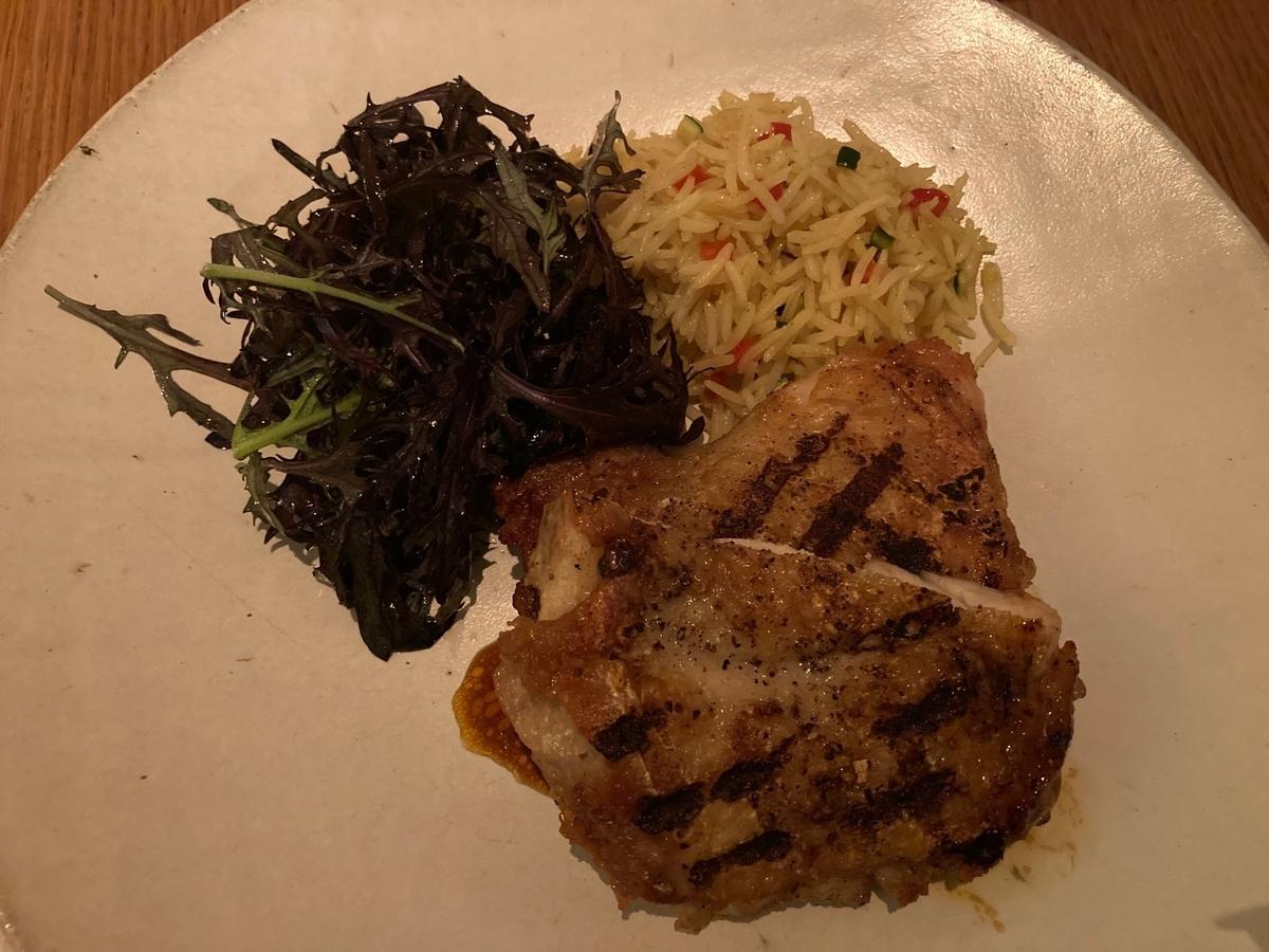 肉料理、チキン、プレミアムディナー、グランドキッチン、パレスホテル、ホテルディナー
