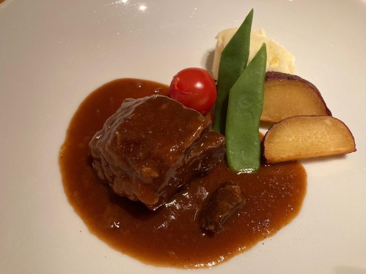 ハイアットリージェンシー東京、カフェ、牛頬肉、ウィンターコース、ホテルディナー