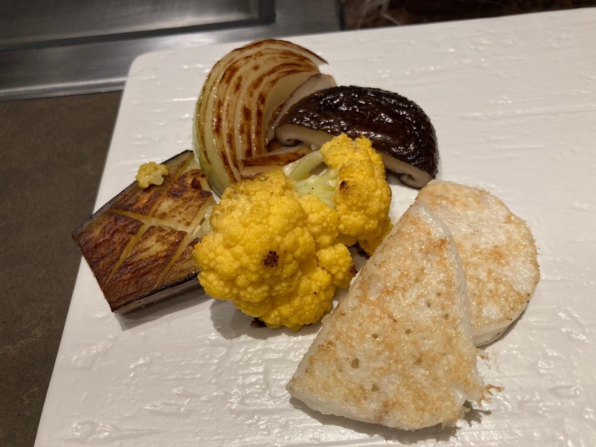 焼野菜、桜、鉄板焼、セルリアンタワー東急ホテル