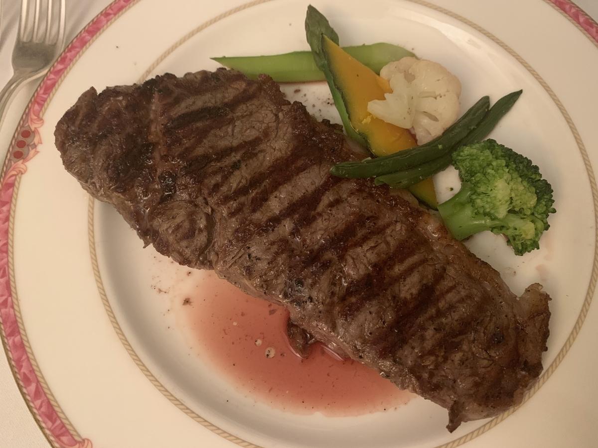 国産牛フィレステーキ、ルームサービス、ウエスティン東京