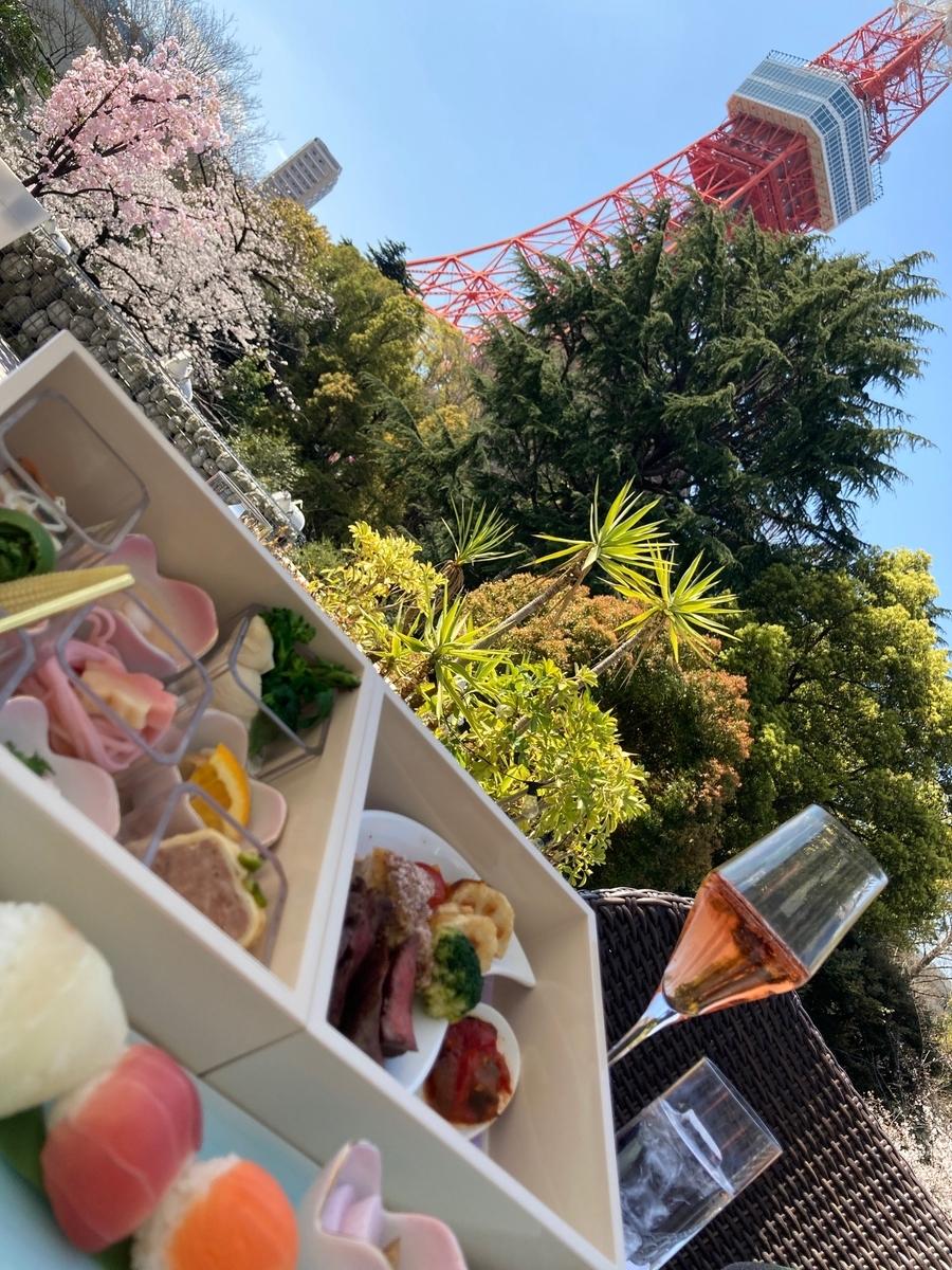 桜の三段重、東京プリンスホテル、桜小箱