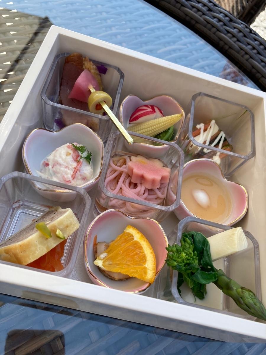 桜小箱、東京プリンスホテル、テラスカフェ、一の重