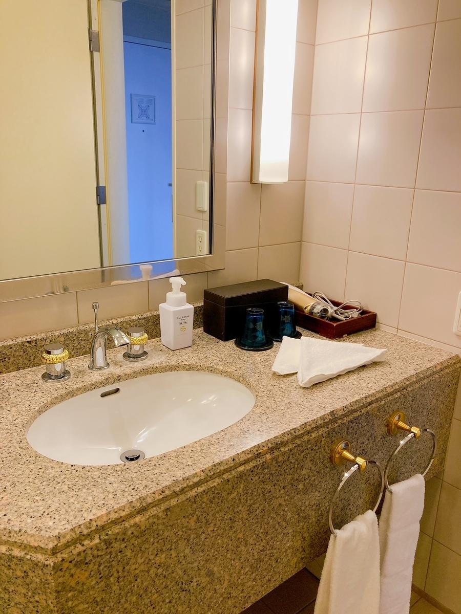 横浜ロイヤルパークホテル、ランドマークタワー、洗面台