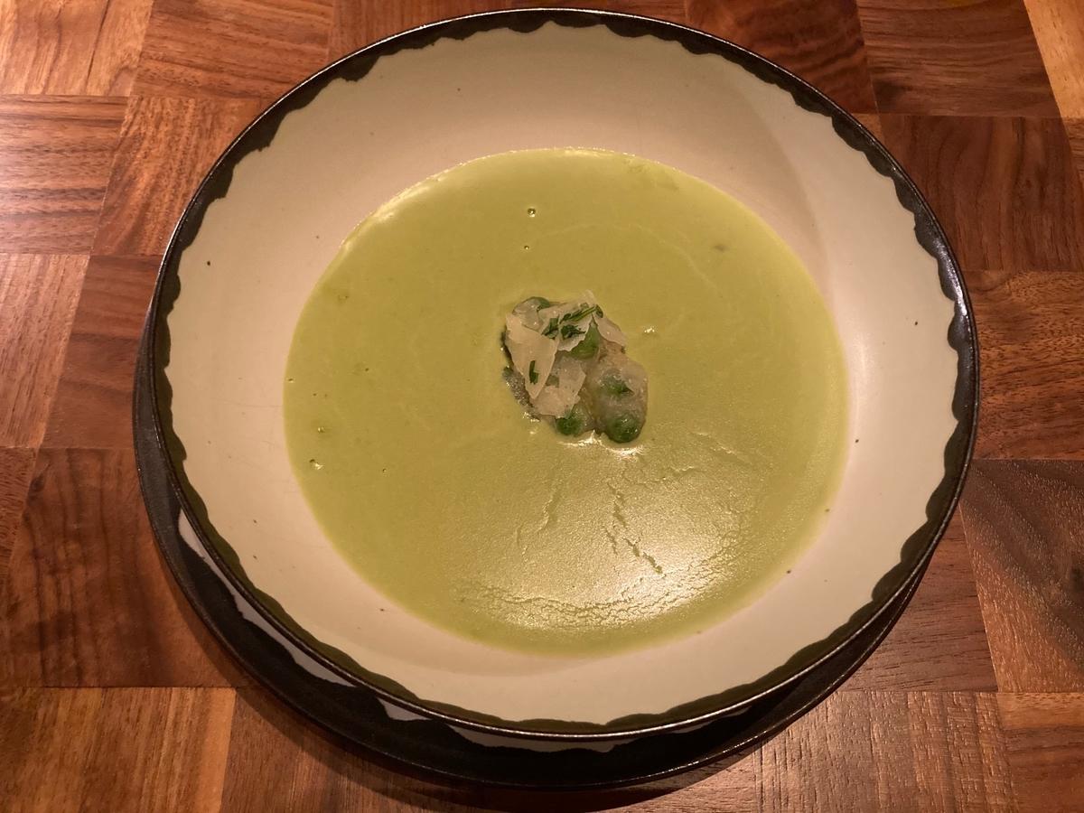ザタヴァン、アンダーズ東京、ポタージュスープ、そら豆