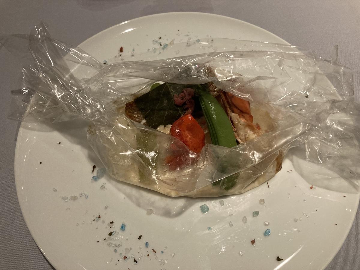 オマール海老、真鯛、サザンタワーダイニング、魚料理
