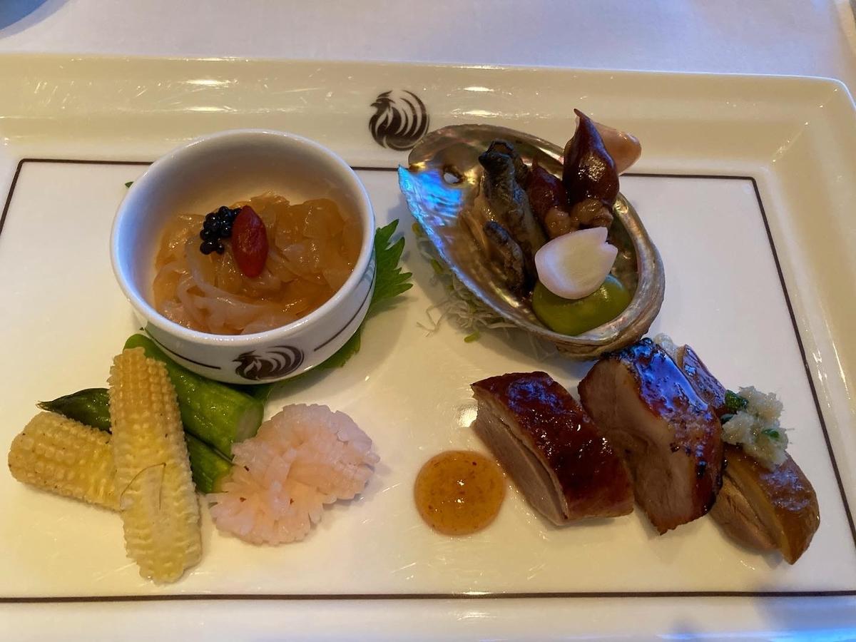 広東式、前菜盛り合わせ、ヘイフンテラス