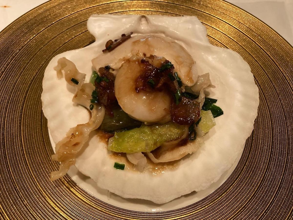 帆立貝、ロメインレタス、ヘイフンテラス、中華料理
