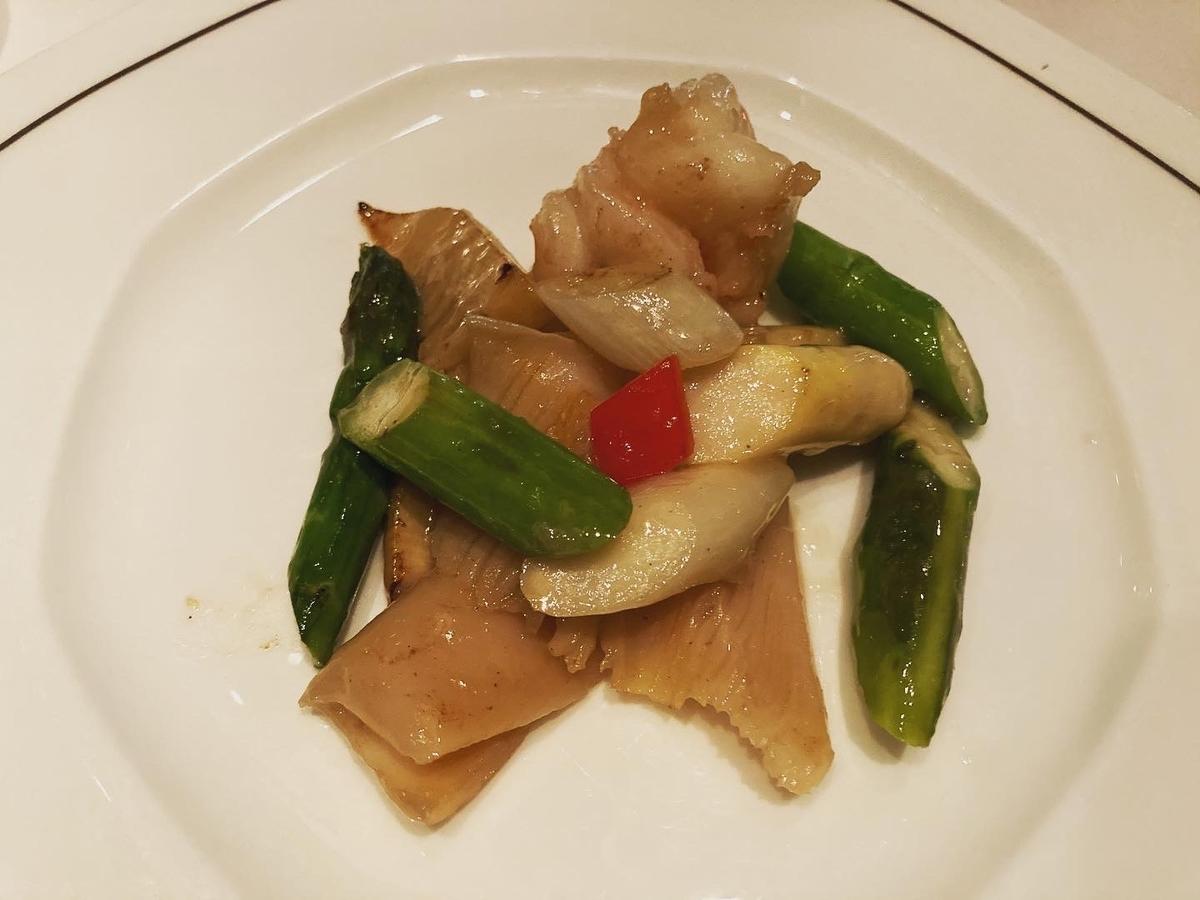 ミル貝、海老、ヘイフンテラス、中華料理