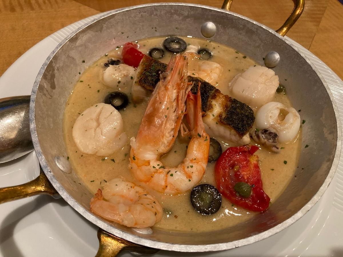 アクアパッツァ、魚料理、かるめら