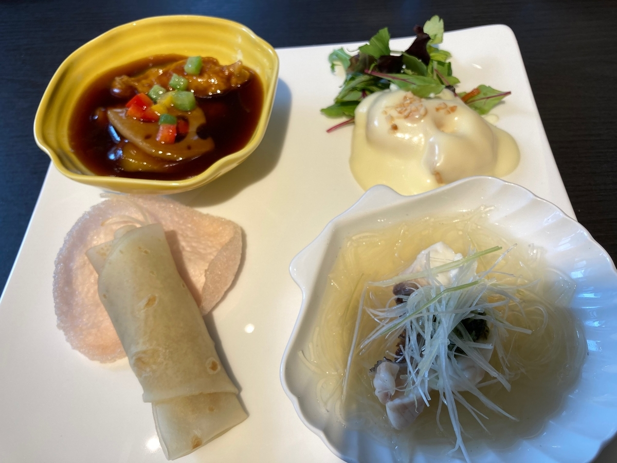 酢豚 、海老のマヨネーズソース・北京ダック、白身魚と春雨の蒸し物