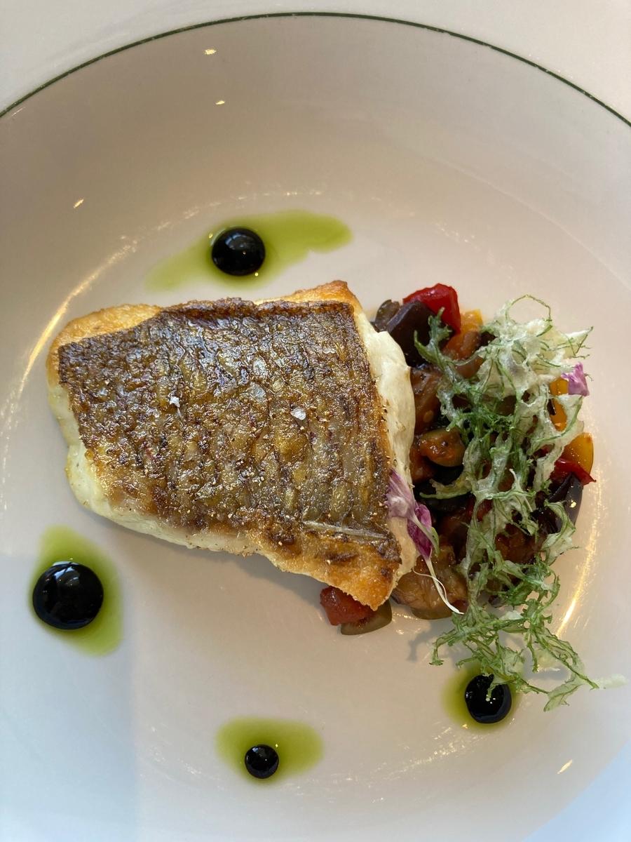 真鯛のロースト、カポナータ、魚料理、ジランドール
