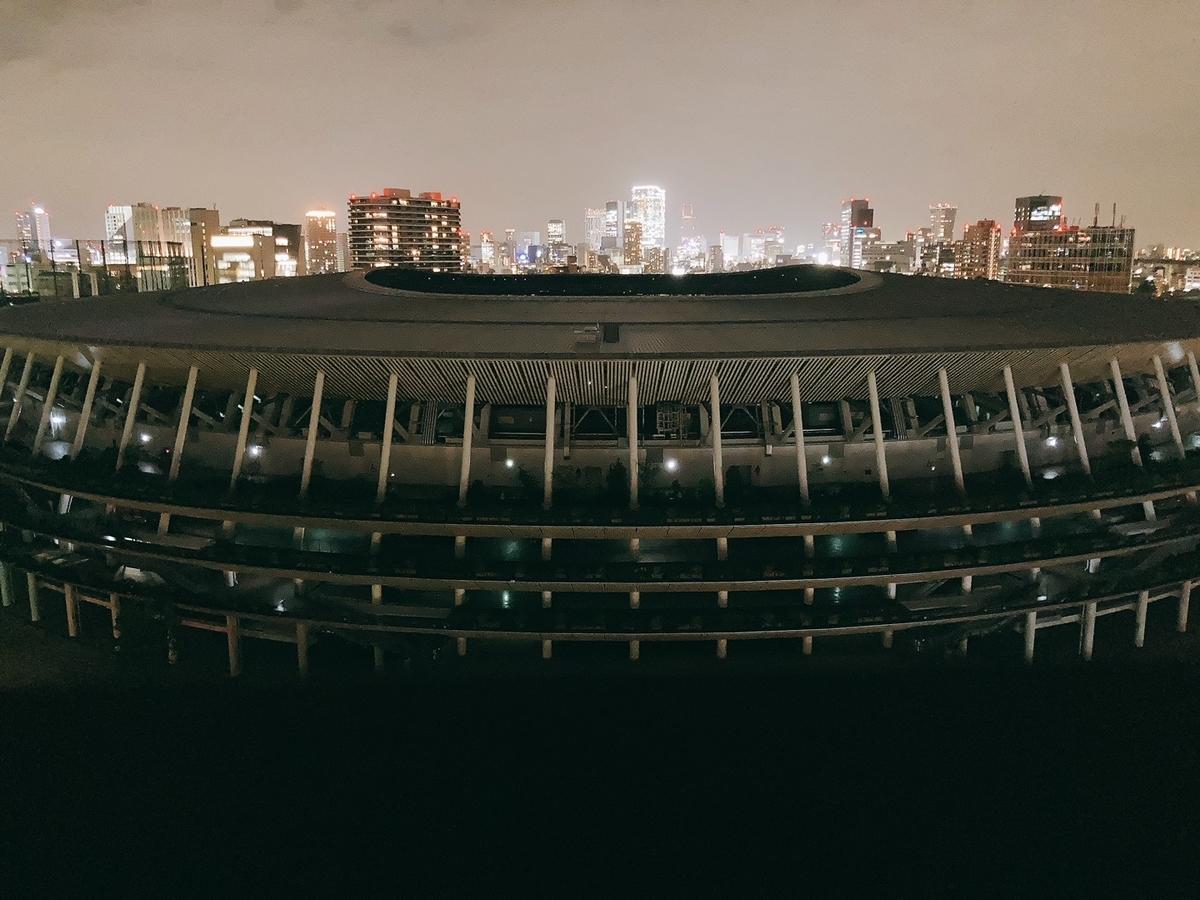 国立競技場、外観、三井ガーデンホテル