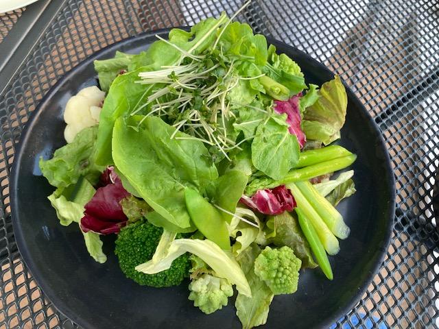 健康野菜、グリーンサラダ、アウトリガー、ガーデンプール