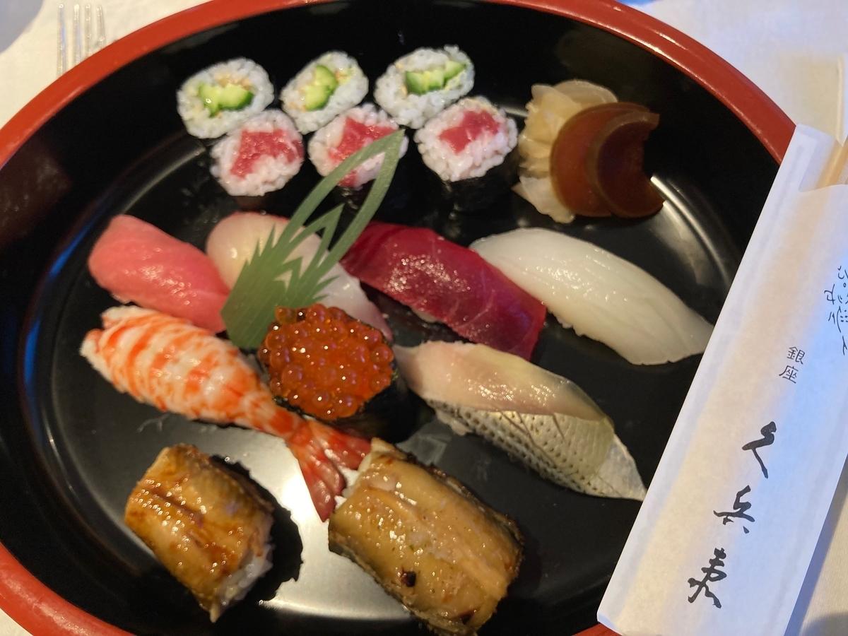 竹、寿司、久兵衛、 京王プラザホテル、ルームサービス