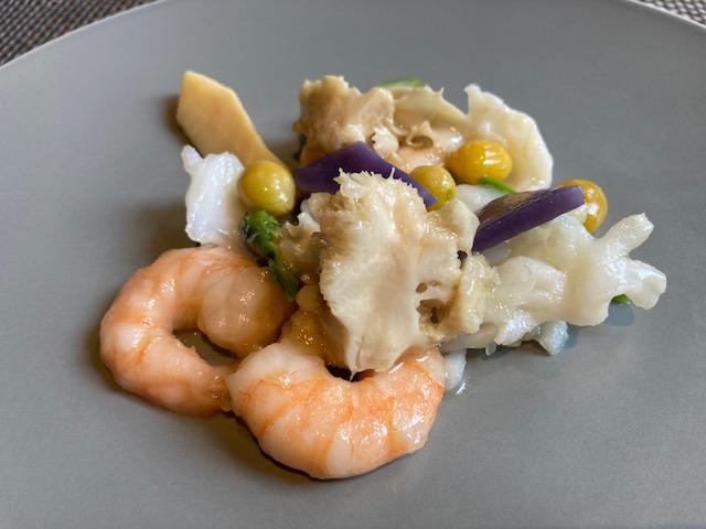 海老、イカ、季節野菜炒め、中華