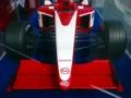 F1参戦発表直後の日本グランプリに展示されていた、TOYOTA-F1 のモックア
