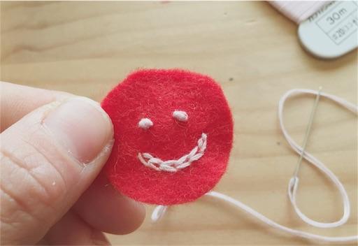 目の作り方 刺繍