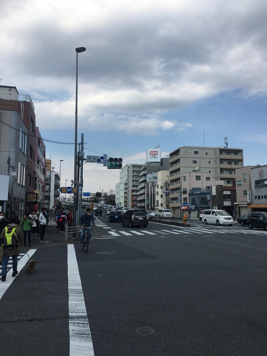 戸田橋へ向かう道