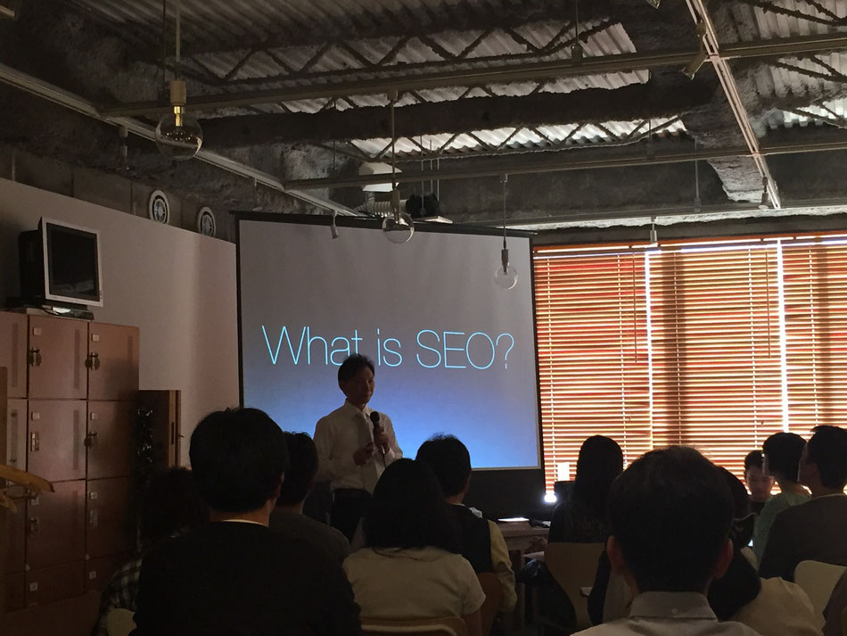 SEOについて話すアルファルーク株式会社 Founder and CEO 渡邊さん