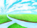 [SAI][オリジナル][風景][野原][川]野原の中の川