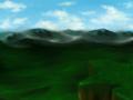 [オリジナル][風景][SAI]崖と山