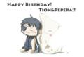 [誕生日][オリジナル][オリキャラ][SAI][Photoshop]Happy Birthday! Tion&Pepera!!