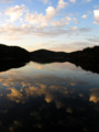 [夕焼け][池]保古の湖