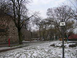 道端に残る雪