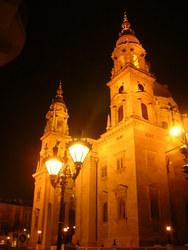 夜の聖イシュトヴァーン大聖堂