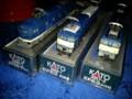 今回のおかいもの。。。青い電気機関車3両♪