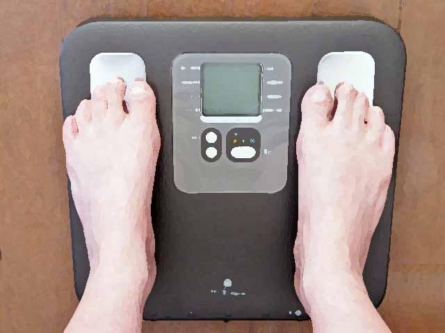 太っている人を計る