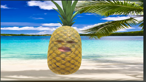 "Snap camera app lens""Pinaapple"""