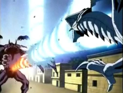 アニメ『遊☆戯☆王デュエルモンスターズ』より「滅びのバーストストリーム」のワンシーン