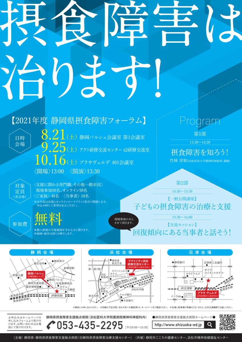 2021静岡県摂食障害フォーラムチラシ