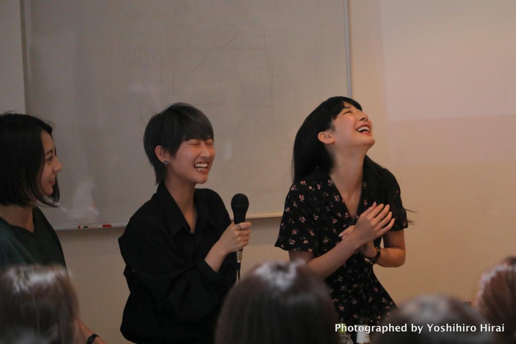 左から、かないめぐさん、アオイミヅキさん、勝海麻衣さん