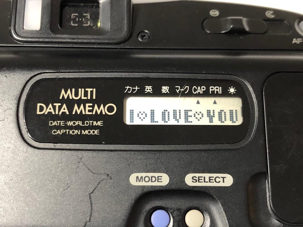 FUJI TELE CARDIA SUPER MEMORY を購入して文字入力して撮ってみた